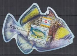 W664. S.Tome E Principe - MNH - 2015 - Marine Life - Fishes - Singapura - Bl - Timbres