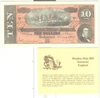 Billet 10 Dollars Confederated States - Reproduction  WooKey Hole Mill Somerset England - Exonumia - Divisa Confederada (1861-1864)