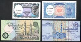 Egypt Set 5, 10, 25, 50 Piastres UNC - Aegypten