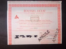 1 ROUSSEL-UCLAF Obligation - Aandelen