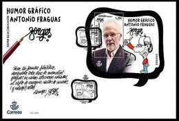 ESPAGNE SPANIEN SPAIN ESPAÑA 2019 M/S GRAPHIC HUMOUR ANTONIO FRAGUAS: FORGES FDC ED HB5322 MI B5355 YT F5060 - 1931-Heute: 2. Rep. - ... Juan Carlos I