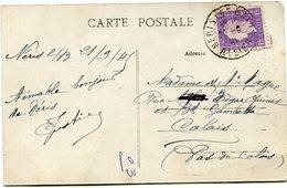 FRANCE CARTE POSTALE  DEPART NERIS-LES-BAINS 22-9-45 ALLIER POUR LA FRANCE - 1944-45 Maríanne De Dulac