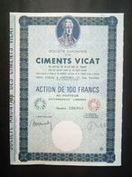 1 Sté Ciments VICAT Action (Annulé) - Actions & Titres