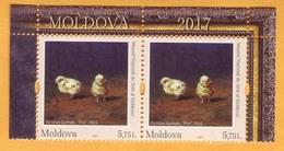 2017 Moldova Moldavie. Art. Paintings. Fauna. Chickens. - Farm