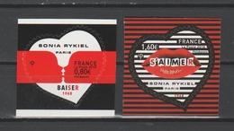 "FRANCE / 2018 / Y&T N° AA 1514/1515 ** : ""Coeurs Sonia Rykiel"" Adhésifs 1 Paire - état D'origine - France"