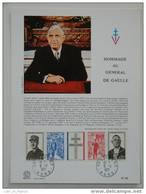 Feuillet Sheetlet FDC N° 46 Charles De Gaulle Lille - De Gaulle (Général)