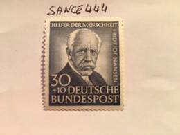 Germany Welfare F. Nansen Explorer 1953 Mnh - Unused Stamps