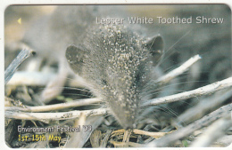"""JERSEY ISL.(GPT) - Environment Festival """"99/Lesser White Toothed Shrew, CN : 74JERC(normal 0), Tirage %20000, Used - Phonecards"""