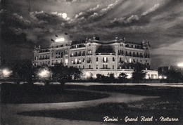 RIMINI-GRAND HOTEL-NOTTURNO-VIAGGIATA 1960  -F.G - Rimini
