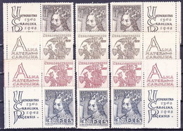 ** Tchécoslovaquie 1948 Mi 535-8+ Zf (Yv 467-70+vignettes), (MNH) - Tschechoslowakei/CSSR