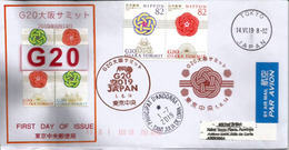 2019 . G20 Osaka Summit,28–29 June 2019. Special Cover From Japan, Sent To Andorra,with Arrival Postmark (SCARCE) - Lettres & Documents
