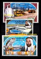 ABU DHABI 1968 2ND ANNIV. SHEIKH ZAYED ACCESSION EAGLE BRIDGE FALCON SHOVELS - Abu Dhabi