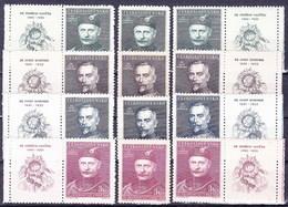 ** Tchécoslovaquie 1948 Mi 540-3+ Zf (Yv 463-6+vignettes), (MNH) - Tschechoslowakei/CSSR