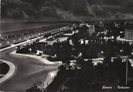 RIMINI-NOTTURNO-REAL PHOTO-VIAGGIATA 1962  -F.G - Rimini