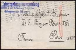 7834 Kriegsgefangenen Sendung Prisonniers Stuttgart 1915 Lsc France Guerre 1914/1918 Lettre (cover) Franchise Militaire - Poststempel (Briefe)