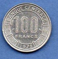 Gabon  -  100 Francs 1972 -  Km # 12   -  état  TTB+ - Gabon