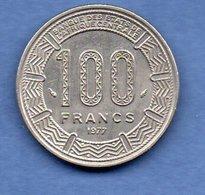 Gabon  -  100 Francs 1977 -  Km # 13   -  état SUP - Gabon