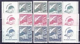 ** Tchécoslovaquie 1947 Mi 512-4+ Zf (Yv 440-2+vignettes), (MNH) - Tschechoslowakei/CSSR