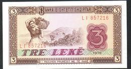 Albania 3 Leke 1976 AUNC - Albania