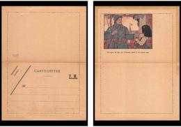 8054 Illustree France Guerre 1914/1918 Carte Lettre Franchise Militaire - Poststempel (Briefe)