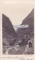 SUISSE  SIMPLON  1860/70 - Photo Originale CDV  De La Route Du Simplon, Les Gorges De Gondo Par Le Phot. Ad. BRAUN - Luoghi