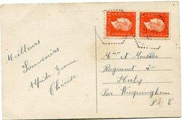 FRANCE CARTE POSTALE DEPART ? 21-10-45 POUR LA FRANCE - 1944-45 Maríanne De Dulac