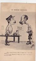 CPA  Militaire Miltaria Major Soldat Remède Estomac Dentier Ratelier Dentiste Dental Dentaire Humour Illustrateur 2 Scan - Humoristiques