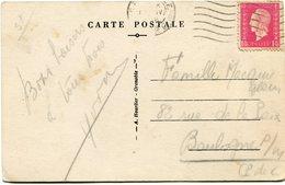 FRANCE CARTE POSTALE DEPART GRENOBLE 1 IV 1946 ISERE POUR LA FRANCE - 1944-45 Maríanne De Dulac