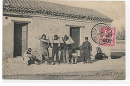 CARD CINA TIENTSIN ARSENAL DE L'EST LADRI A LA CANGUE GUARDIA FRANCESE ARMATA   -FP-V-2-   0882-29142 - China