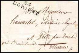 8572 LAC 1815 Lorient Morbihan 35x9.5 Pour St Menehould Marque Postale Lineaire France Lettre (cover) - Marcophilie (Lettres)
