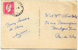 FRANCE CARTE POSTALE DEPART CAMARET S/MER ?-?-? FINISTERE POUR LA FRANCE - 1944-45 Maríanne De Dulac