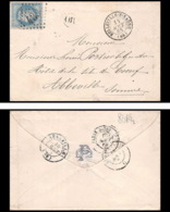8689 LSC OR Origine Rurale N 29 Napoleon 20c Belleville-sur-Saône Rhone GC 433 Abbeville Somme 1868 France Lettre - Marcophilie (Lettres)