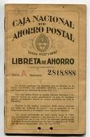 LIBRETA DE AHORRO - CAJA NACIONAL DE AHORRO POSTAL, ARGENTINA AÑO 1938, CON SELLOS FISCALES Y MATASELLO - LILHU - Facturas & Documentos Mercantiles