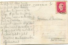 FRANCE CARTE POSTALE DEPART LA BAULE S/MER 27-7-45 POUR LA FRANCE - 1944-45 Maríanne De Dulac