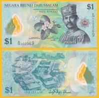Brunei 1 Ringgit P-35 2016 UNC Polymer Banknote - Brunei