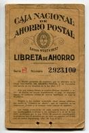 LIBRETA DE AHORRO - CAJA NACIONAL DE AHORRO POSTAL, ARGENTINA AÑO 1941, CON SELLOS FISCALES Y MATASELLOS - LILHU - Facturas & Documentos Mercantiles