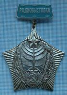 USSR / Badge / Soviet Union / UKRAINE. DOSAAF. Radio Exhibition 1970s - Associations
