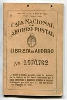 LIBRETA DE AHORRO - CAJA NACIONAL DE AHORRO POSTAL, ARGENTINA AÑO 1950, CON SELLOS FISCALES Y MATASELLOS - LILHU - Autres