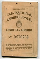 LIBRETA DE AHORRO - CAJA NACIONAL DE AHORRO POSTAL, ARGENTINA AÑO 1950, CON SELLOS FISCALES Y MATASELLOS - LILHU - Facturas & Documentos Mercantiles