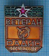 USSR / Badge / Soviet Union / UKRAINE. Radio Sport Federation. Veteran. Chernivtsi. 1980s - Badges