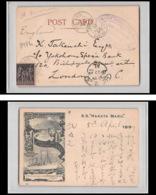 8984 LAC Maritime Paq Fr 6 Port Said Egypte Egypt 1899 Japon Japan 89 Sage Steam Ship Hakata Maru Carte Postcard - Postmark Collection (Covers)