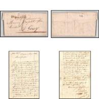 9016 LAC St Quentin Aisne 1824 Pour Gouy Marque Postale Lineaire 37x10 France Lettre Cover - Marcophilie (Lettres)