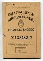 LIBRETA DE AHORRO - CAJA NACIONAL DE AHORRO POSTAL, ARGENTINA AÑO 1966, CON SELLOS FISCALES Y MATASELLOS - LILHU - Facturas & Documentos Mercantiles