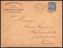 9074 Entete Fromages Guichard LSC 1899 N°101 Sage 15c Lons Le Saunier Jura Avignon France Lettre Cover - Postmark Collection (Covers)