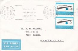 1993 COVER CIRCULEE SPAIN TO ARGENTINE, TANDIL. STAMP A PAIR, BANDELETA PARLANTE - BLEUP - 1931-Hoy: 2ª República - ... Juan Carlos I