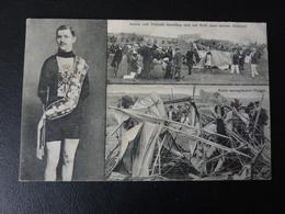 Weltmeister Robl 1910 + Absturz Flugzeug  Cyclisme Radrennen Radsport  Cycling Velo Wielrennen - Cyclisme