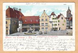 CPA Gruss Aus Colmar I.Els. Kaufhausplatz Mit Schwendibrunnen, Gel. 1903 - Colmar