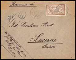 9172 N°120 Merson 50c Vichy Allier 1903 Lucerne Suisse France Lettre Recommande France Lettre Cover - Storia Postale