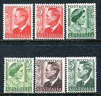 Australia 1950-52 KGVI Definitives Set HM (SG 234-237d) - 1937-52 George VI