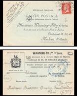 9194 Entete Waaning Tilly N°173 Pasteur Paris 1923 Harlem Pays-Bas Netherlands France Carte Postale Postcard - Postmark Collection (Covers)
